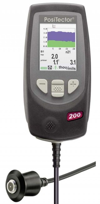 PosiTector 200 Series. Coating Thickness Meter for Non-Metals