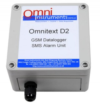 OmniText D2 GSM Data Logging and Alarm Unit, Web Enabled