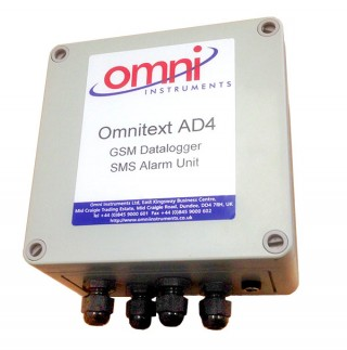 OmniText-AD4 Web Enabled GSM Logging and Alarm Unit
