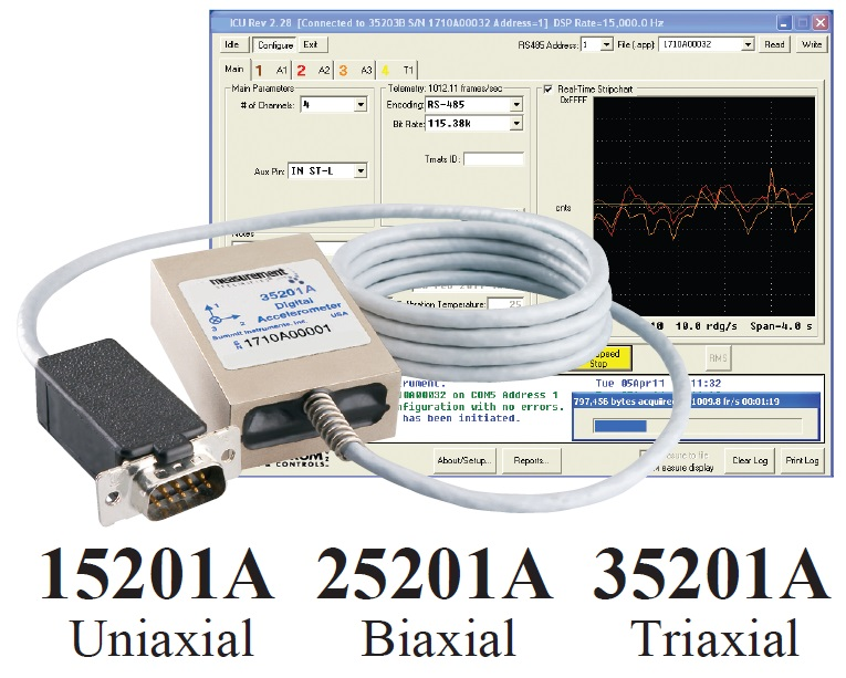 35201A Smart Triaxial Accelerometer