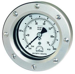 DMS600 Series 63mm Subsea Pressure Gauges