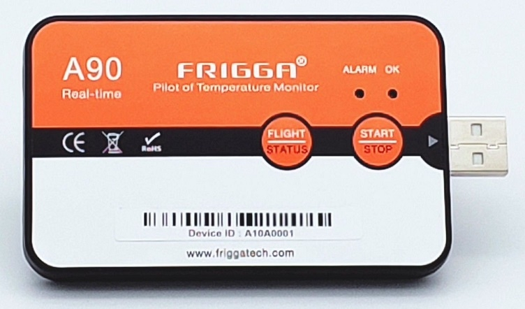 Frigga A90 Real Time Temperature Logger with GPS
