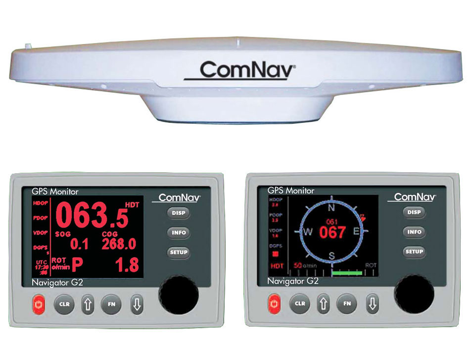 ComNav G2 GNSS Satellite Compass with 15m cable, G2 Navigotor Colour  Display and NMEA0183 O/P