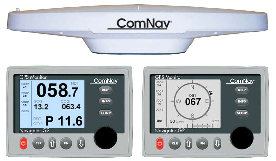 ComNav G2 GNSS Satellite Compass with 15m cable, G2 Navigotor Mono  Display and NMEA0183 O/P