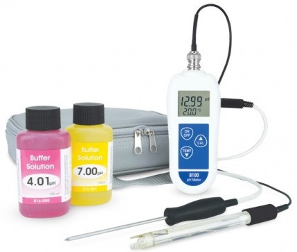 8100 PH and Temperature Meter Kit