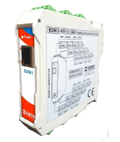 EGW1-IA3-MB Modbus ASCII or RTU to Modbus TCP Protocol Converter