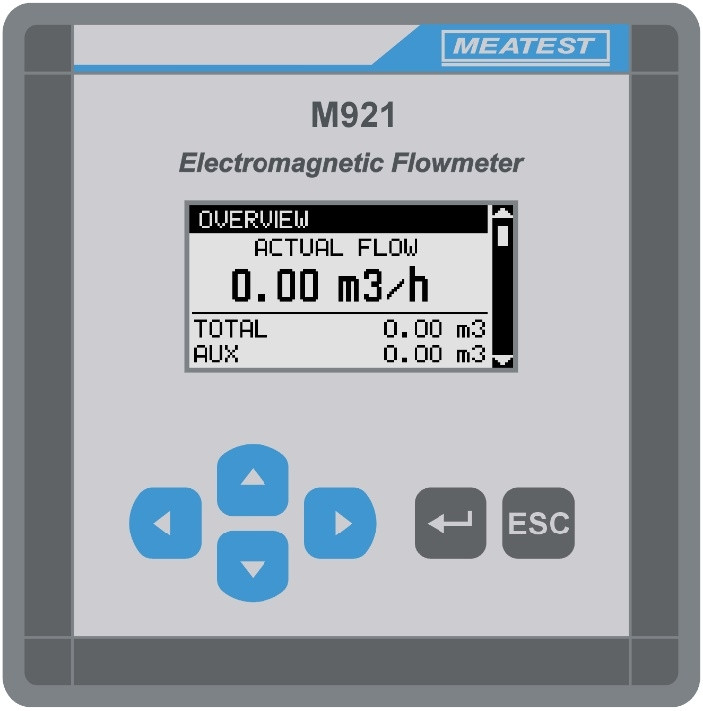 M921 Precision Electromagnetic Flow Meter Display