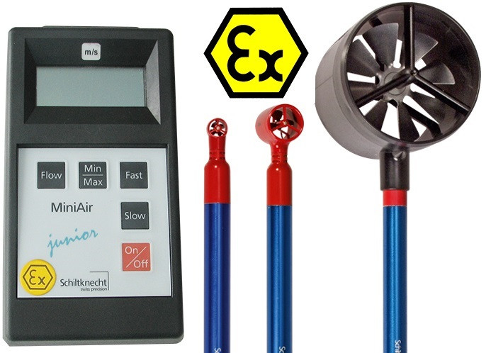 MiniAir Junior Ex Vane Anemometer for Hazard Applications