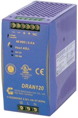 DRAN120-24 Power Supply. 24vDC @ 5A