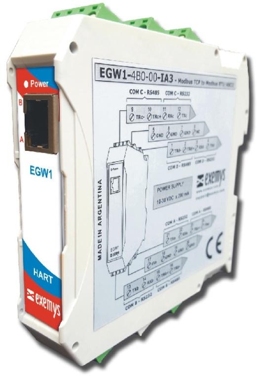 EGW1-IA3-MB-HT HART to Modbus Protocol Converter