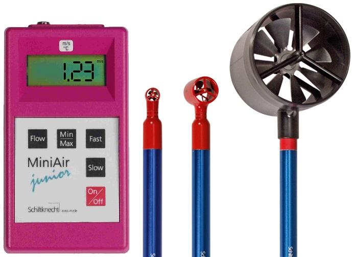 MiniAir Junior Anemometer for Air Flow Monitoring.