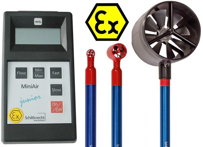 MiniAir Junior Ex Vane Anemometer for Hazard Applications
