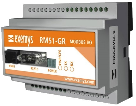 RMS1-GR Digital and Analogue I/O to Modbus RTU/ASCII