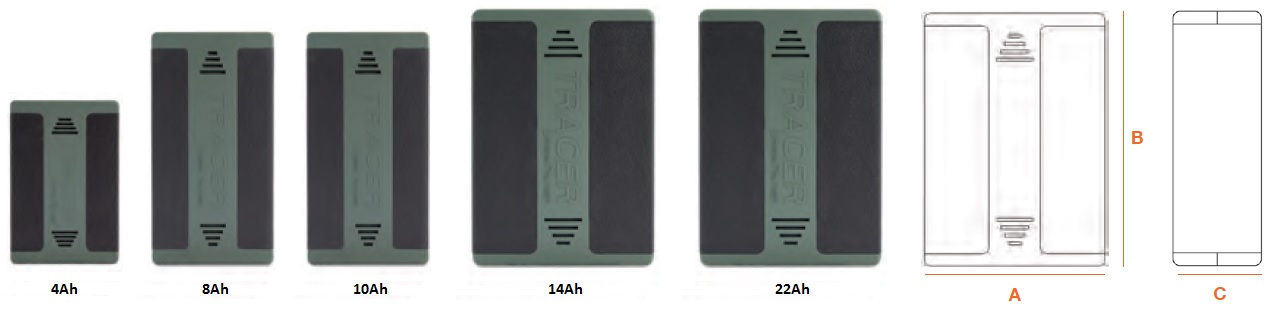 Tracer LiPo Battery Pack Range
