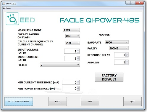 Facile QI-POWER-485 Software