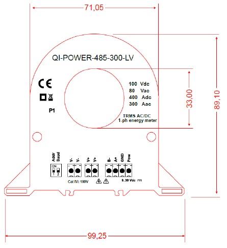QI-POWER-485-300-LV Network Analyser