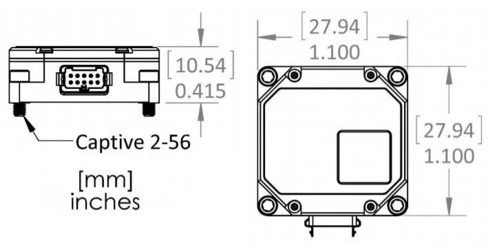 MS-IMU3020 Dimensional Drawing