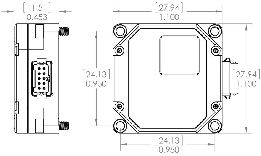 MS-IMU3030 Dimensional Drawing