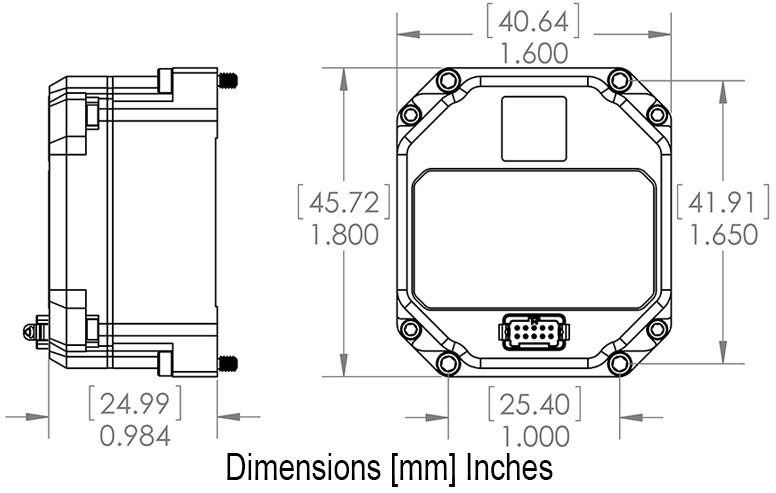 MS-IMU3050 Dimensional Drawing