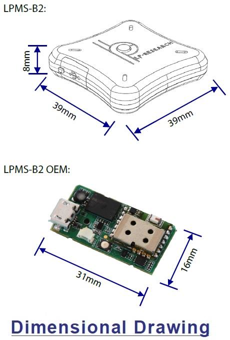 LPMS-B2 STD Dimensional Drawing