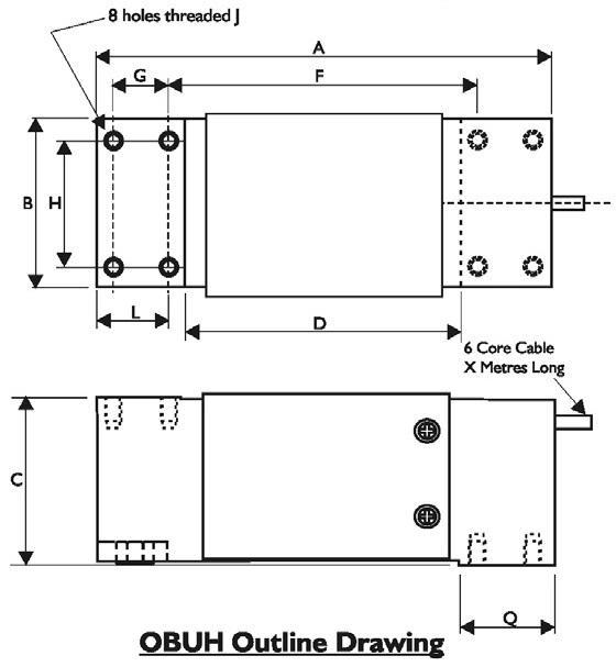 OBUH Dimensional Drawings