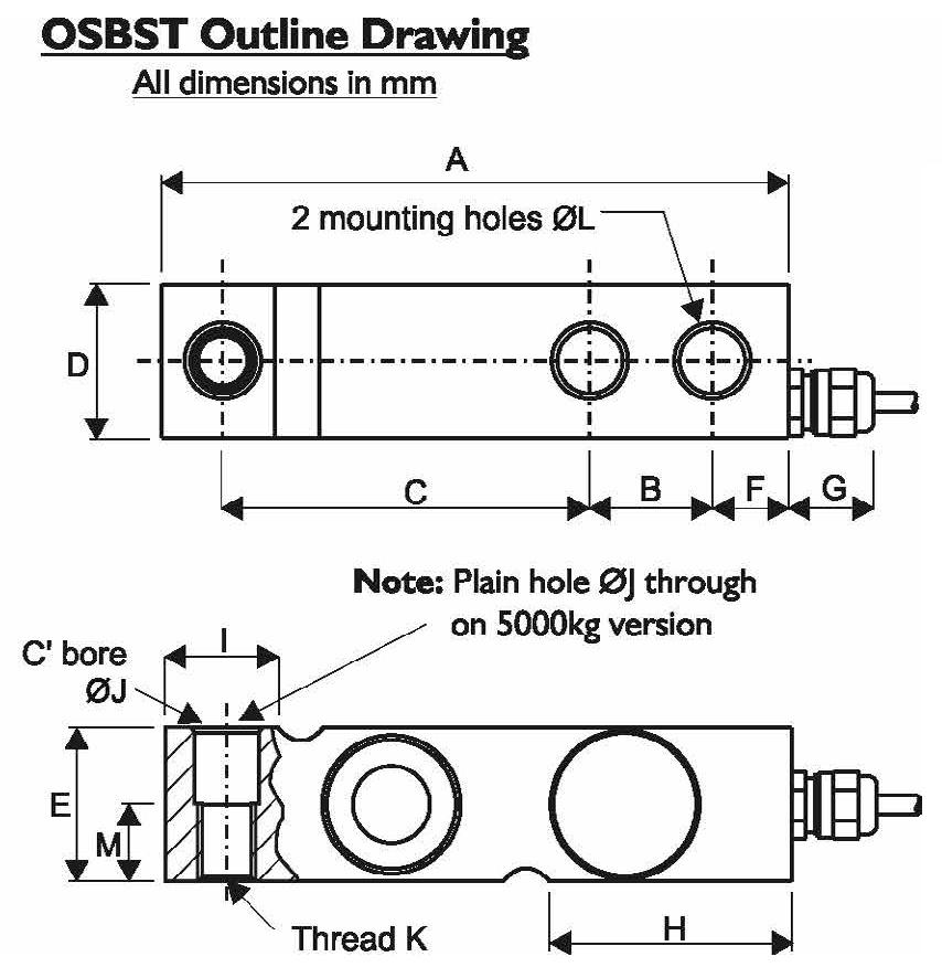 OSBST Dimensional Drawings
