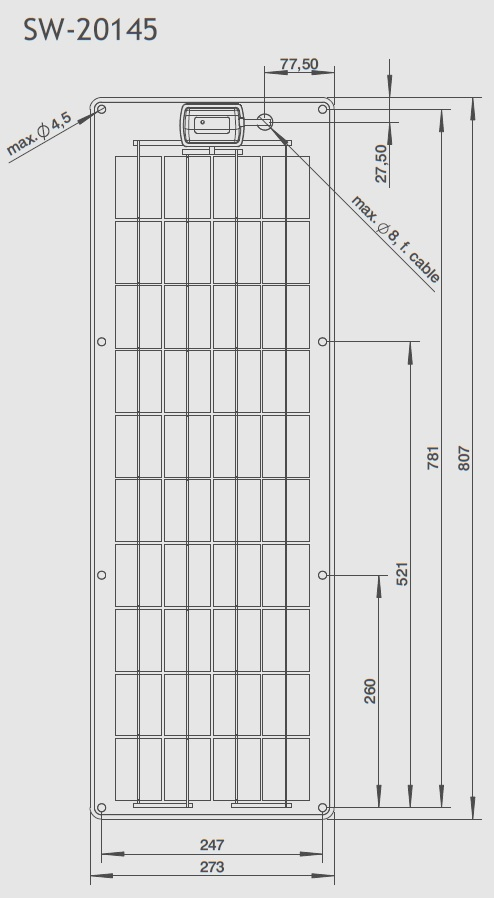 SW-20145 Technical Drawing