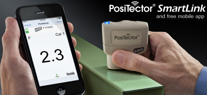 PosiTector SmartLink and free mobile app