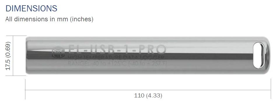 EL-USB-1-PRO Dimension Diagram